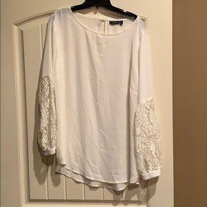 Ivory Lace Sleeve Blouse